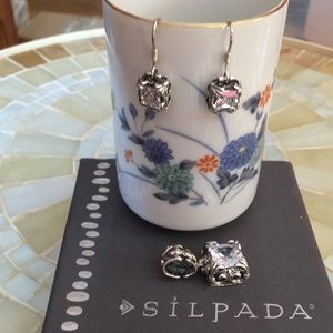 Silpada Sterling Silver Uptown Earrings/Pendant